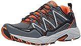 Fila Men's Headway 6 Running Shoe, Castle Rock/Vibrant Orange/Black, 9.5 M US