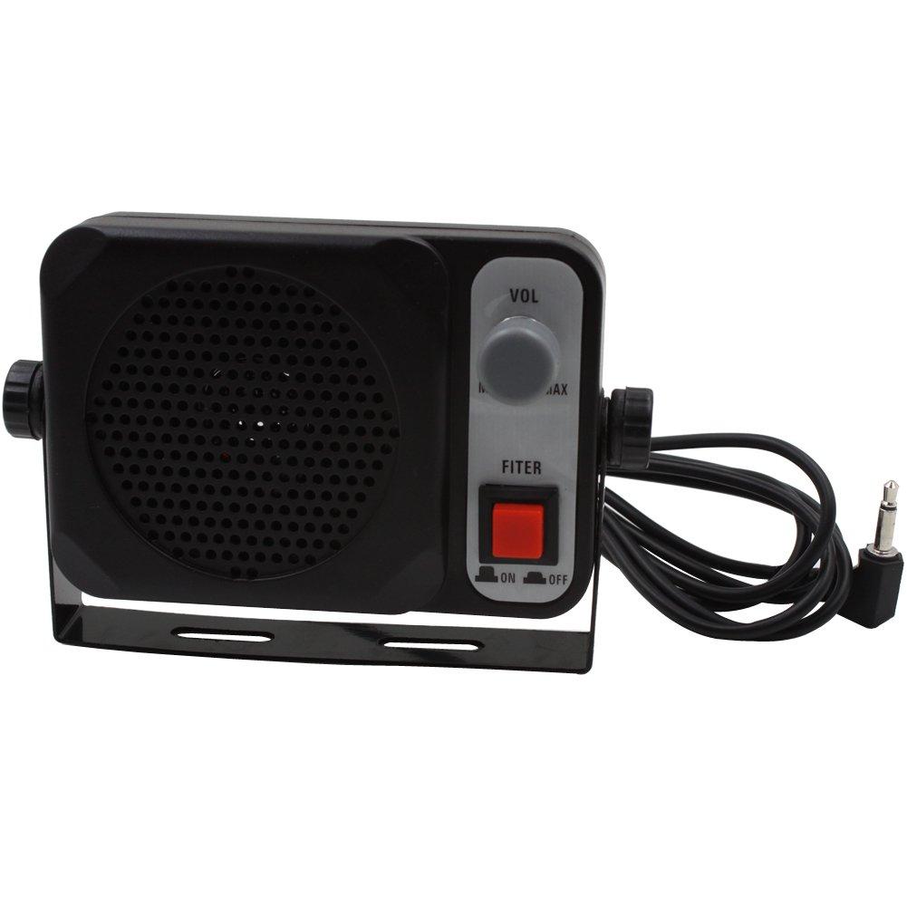 KENMAX 3.5mm Jack 10W External Speaker Universal CB Speaker for Mobile Radio Car Radio FT-8100R FT-8800R FT-2600M FT-3000M FT-1802M Ft-1807M