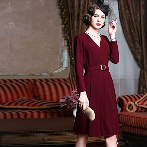 with Belt Dresses cotyledon Neck v Formal Women`s Dress Maxi TwUB0