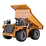 Dump Truck, 2.4GHz 6 Channels USB Rechargeable Electric Full Functional RC Construction Tractor Excavator