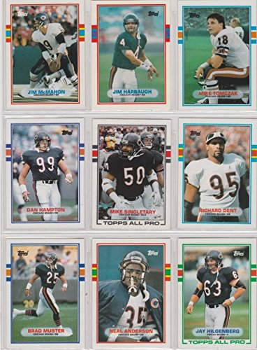 Chicago Bears 1989 Topps Team Set w/ Year-End Traded Cards (23 Cards)***, Neal Anderson, Trace Armstrong, Jim...