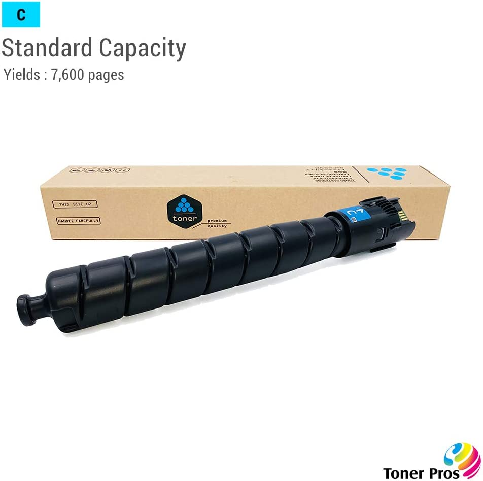 Remanufactured Cyan Toner 106R04034 for Xerox Versalink C8000 Printer TM Toner Pros Standard Capacity Cyan Color - 7,600 Pages