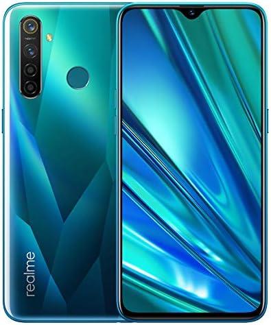 realme 5 Pro Smartphone 4GB RAM + 128GB ROM, Pantalla de 6.3'' IPS, procesador Octa-Core, 16MP Frontal y 48MP AI Cuádruple Cámara, Dual Sim, Verde Cristal, Versión Europea, Enchufe EU