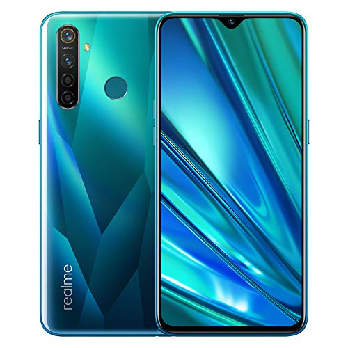 realme 5 Pro Smartphone Cellulari 4GB 128GB, 6.3 '' Snapdragon 712AIE Octa Core 48MP AI Quad Camera 4035mAh, Dual Sim, Versione globale (verde)