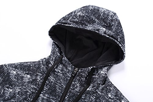 FZDX Hoodie Men's Slim Fit Long Sleeve Lightweight Full Zip Hooded Sweatshirt Camouflage