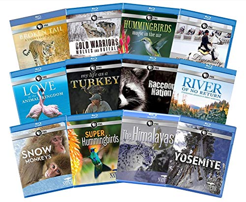 Ultimate PBS Natures Series 12-Disc Blu-ray Collection: Yosemite/Himalayas/Super Hummingbirds/Snow Monkeys/River of No Return/Raccoon/Turkey/Love/White Stallions/Hummingbirds/Cold Warriors/Broken Tail