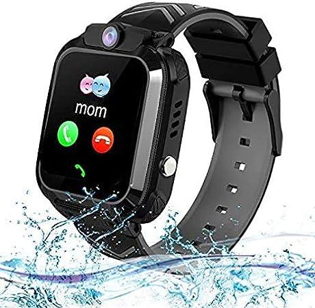 bhdlovely Smartwatch para niños, Resistente al Agua, Reloj Inteligente para niños y niñas, Regalo Negro