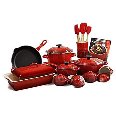 Le Creuset Cherry Red 20-piece Cookware Set