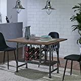 Convertible Coffee Dining Table Rosweil Convertible Wine Console to Dining Table - Brown