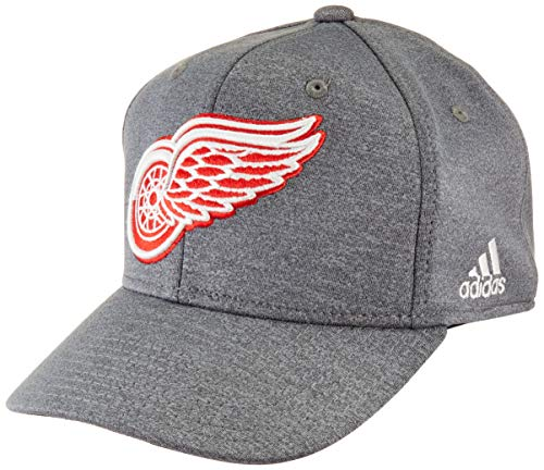 - adidas NHL Detroit Red Wings Structured Flex Hat, Large/X-Large, Grey