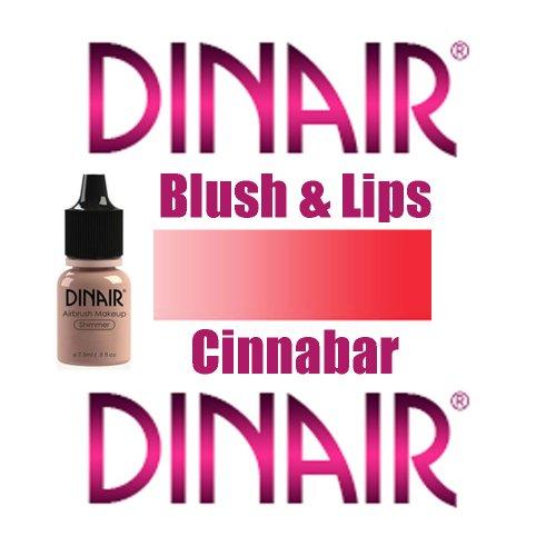 DINAIR AIRBRUSH BLUSH & LIPS MAKEUP – 1 Bottle CINNABAR .25oz.