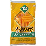 BIC Single Blade Sensitive Disposable Shaver - Men, 12 Count