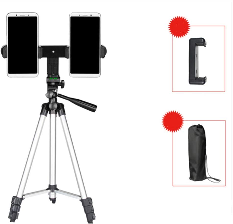 Compact Lightweight Multifunctional Tripod Floor Type Outdoor Portable Tripod 130cm Three-Stage Fill Light