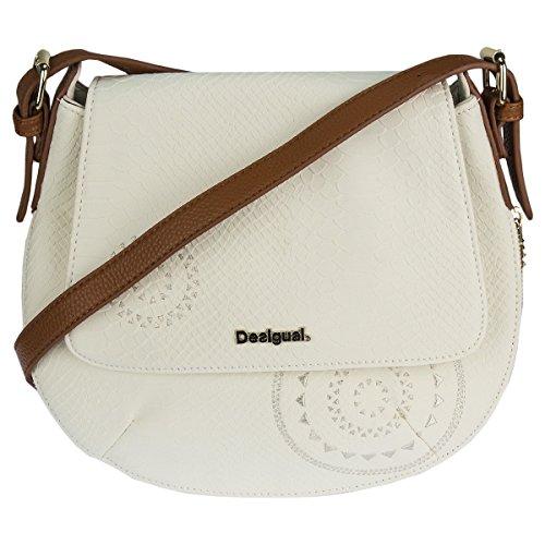 Desigual Umhängetasche Schultertasche Shoulder Bag BOLS GENOVA CALYPSO 72X9YB6 Weiß