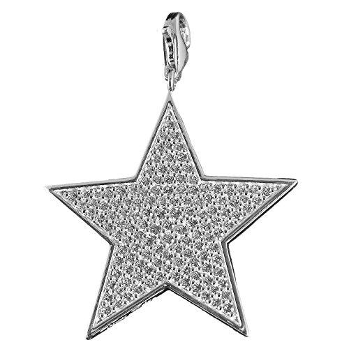 Thomas sabo t 0253-051-14 avec pendentif en forme d'étoile-argent-oxyde de zirconium-blanc-grand