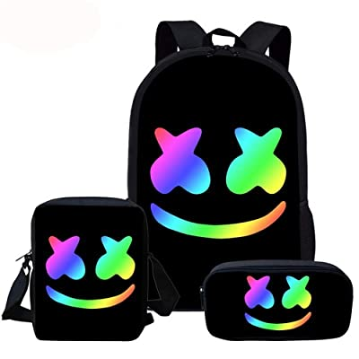 USAMYNA School Backpack 3 Sets Kids Schoolbag for Teenagers and Students (A) | Kids' Backpacks