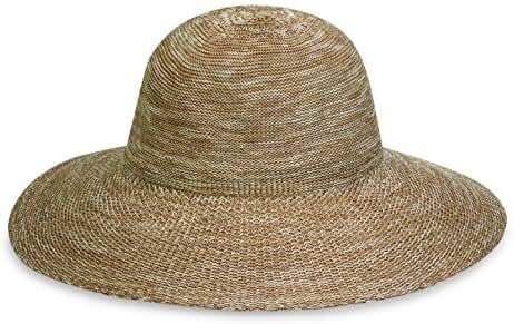 Wallaroo Women's Victoria Diva Sun Hat- Packable Straw Hat