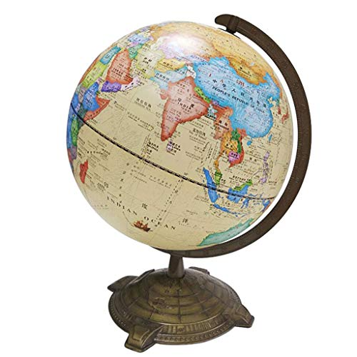 European,American Style Retro Desk Lamp Rotation Globe Three,Dimensional Relief Large Decorative Table Lamp, BOSS LV