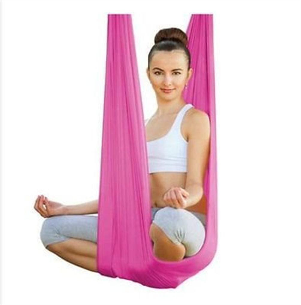 E-Bestar Kits de Yoga Yoga Anti-gravit/é Hamac-Yoga Hamac Pilates /Équipements de Danse A/érienne Yoga Balan/çoire Tissu Stretch Durable Yoga Hamac Aerial Silks 5 Meter