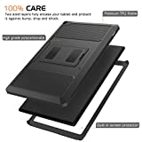 MoKo Case for Fire HD 10 - [Heavy Duty] Shockproof Defender Full Body Rugged Hybrid Cover with Built-in Screen Protector for Amazon Kindle Fire HD 10 Inch Display Tablet (2015 Release Only), BLACK