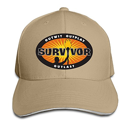 Acmiran Survivor Personalize Sandwich Baseball Caps One Size Natural