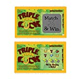 Pregnancy Announcement Scratch-Off Lottery Tickets, New Baby Game, 5 Cards