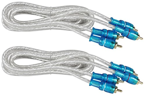 (2) Rockville MRCA6 6 Foot Twisted Pair Marine/Boat RCA Cables 100% Copper