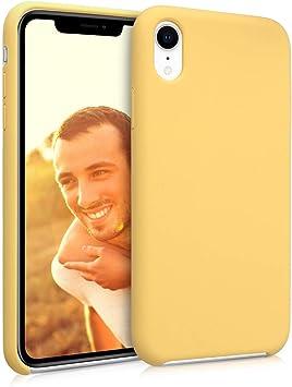 kwmobile Funda Compatible con Apple iPhone XR - Carcasa de TPU para móvil - Cover Trasero en Amarillo: Amazon.es: Electrónica