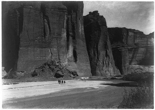Infinite Photographs Photo: The cliffs,Canyon de Chelly,Arizona,AZ,Landscape,Nature,c1905,Edward Curtis