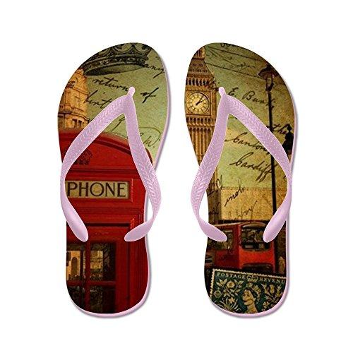 Cafepress Vintage London Uk Fashion - Chanclas, Sandalias Thong Divertidas,  Sandalias De Playa Rosa