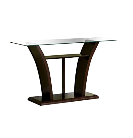 Amazon furniture of america veretta sofa table with 10mm furniture of america veretta sofa table with 10mm beveled glass top dark cherry finish watchthetrailerfo