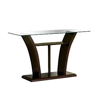 Superior Amazon.com: Furniture Of America Veretta Sofa Table With 10mm Beveled Glass  Top, Dark Cherry Finish: Kitchen U0026 Dining