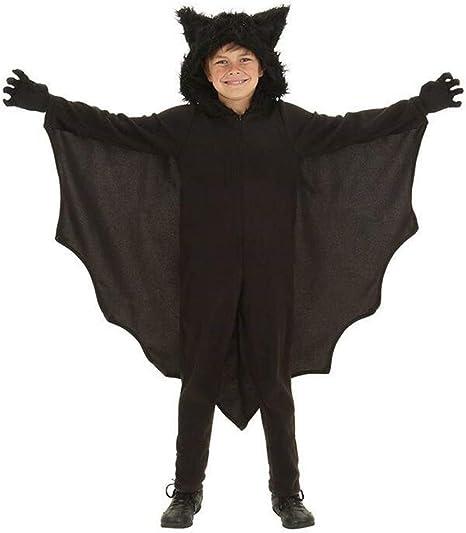 THEE Disfraz de murciélago de Vampiro para Mujer, poliéster, Negro ...