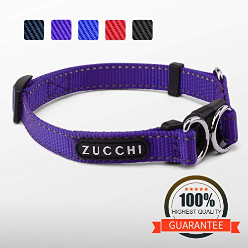 """ZUCCHI Small Dog Collar, Reflective and Comfy, Neck 12-16"""","""