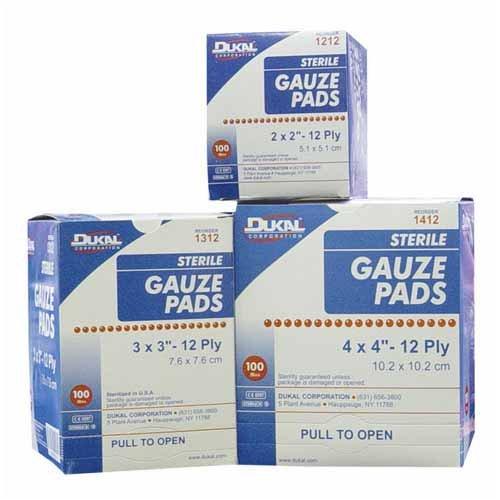 amazon com dukal dkl1312 sterile gauze pads 3x3 12 ply 100 bx