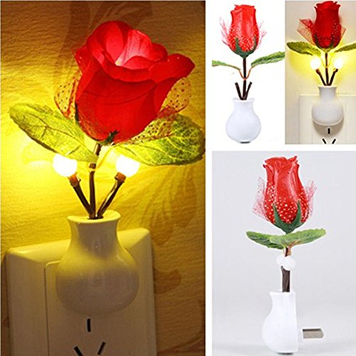 DUOMI LED Rose Night Lamp Home Decoration LED Wall Lamp for bedroom, home, bars, cafes, restaurants, wedding, party and other romantic places