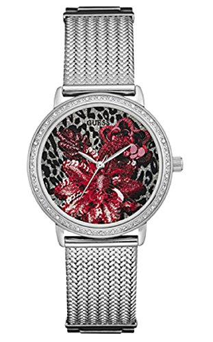 Guess-W0822L1-Brocade-Red-Floral-Dial-Womens-Willow-Watch