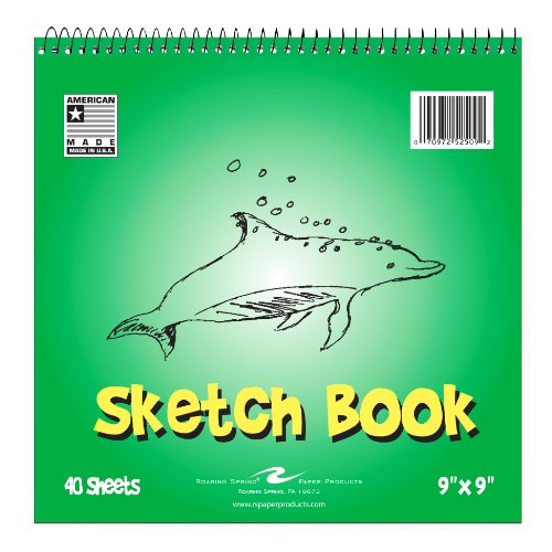 "Roaring Spring Paper Kid's Sketch Book, 9"" x 9"", 40 sheets"
