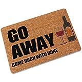 tljying funny rubber go away wine home welcome non-slip floor mat living room kitchen indoors area