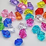 Mix Colors Acrylic Ice Rock Crystals Treasure Gems for Table Scatters, Vase Fillers, Wedding, Banquet, Party, Event, Birthday Decoration (Colors, 150)