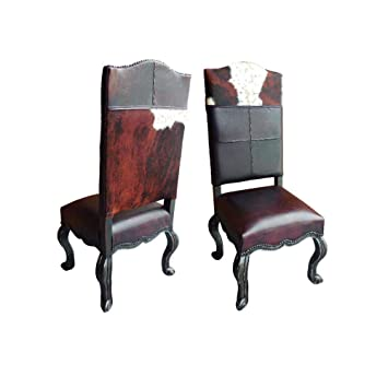 Surprising Amazon Com Southwestern Inspired Dining Chair With Cow Bralicious Painted Fabric Chair Ideas Braliciousco