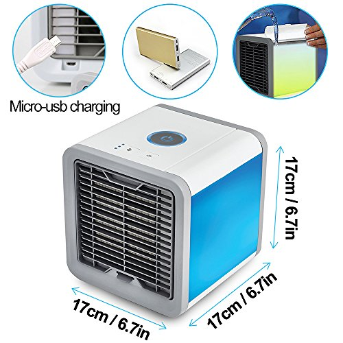 Air Conditioner Portable Air Conditioner Personal Space Air Cooler Mini Portable Space Air Conditioner, Portable Space Cooler for 45 Square Feet, Desk Table Fan for Office Home Outdoor by PLZ (Image #3)