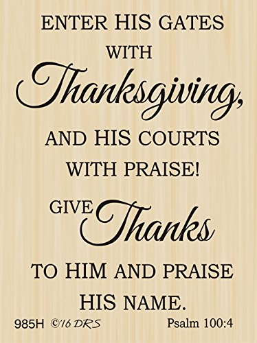 Psalm 100 Thanksgiving Greeting Rubber Stamp by DRS Designs Rubber Stamps