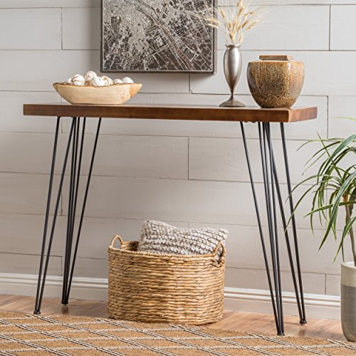 iron and wood console table - 6