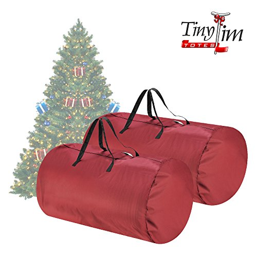 Tiny Tim Totes   Premium 2-Pack   Canvas Christmas Tree Storage Bags   Extra Large For 9 Foot and 7.5 Foot Trees   - Are Credit Dimensions Card A What Of The