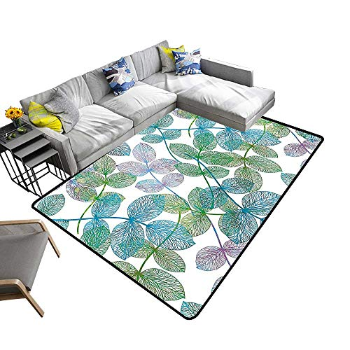 Natural Fiber Area Rug Ivy Ve Like Ra Bow Ombre Light Blue Fern Green Purple White Suitable for Bedroom Home Decor 6