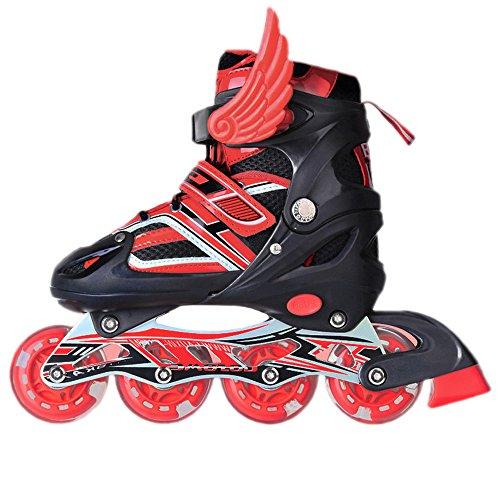 uruoi-unisex-adjustable-glittery-inline-roller-skates-red-large