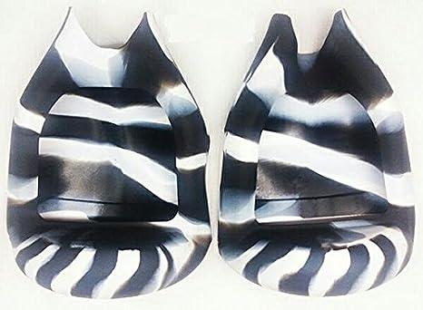 Negro/Blanco Flexible de Silicona Cubierta de la caja ...