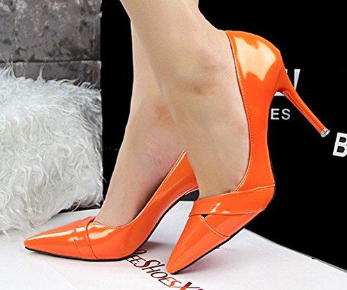Donne Arancione Abito Campagna Delle Di Spillo Alto Tacco No A 66 Pompe wa8HHA
