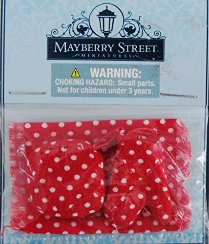 Mayberry Street Miniatures Kitchen Towel 3pc Set Red White Polka Dot ~ Doll ()